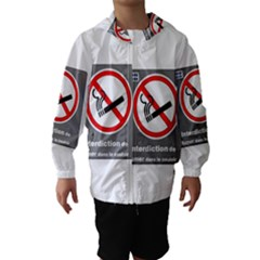 No Smoking  Hooded Wind Breaker (Kids)