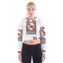 No Smoking  Women s Cropped Sweatshirt