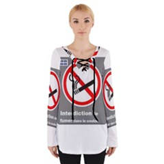 No Smoking  Women s Tie Up Tee