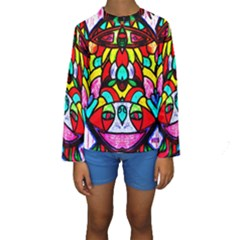 Upside Down Kid s Long Sleeve Swimwear