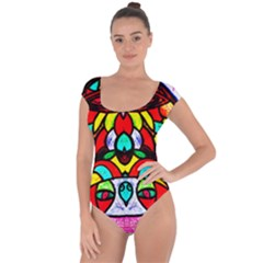 Upside Down Short Sleeve Leotard (Ladies)