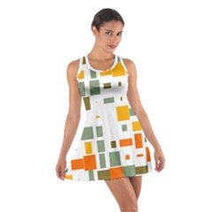 Rectangles and squares in retro colors  Cotton Racerback Dress