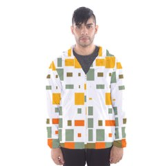 Rectangles And Squares In Retro Colors  Mesh Lined Wind Breaker (men)