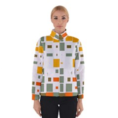 Rectangles and squares in retro colors  Winter Jacket