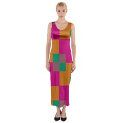 Squares    Fitted Maxi Dress