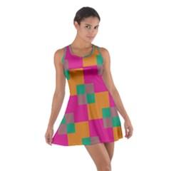 Squares    Cotton Racerback Dress