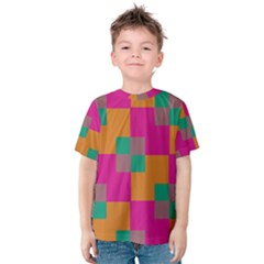 Squares    Kid s Cotton Tee