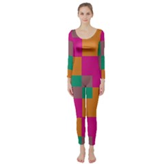 Squares     Long Sleeve Catsuit