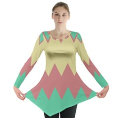 Retro chevrons     Long Sleeve Tunic