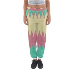 Retro chevrons     Women s Jogger Sweatpants