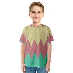 Retro chevrons     Kid s Sport Mesh Tee