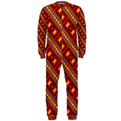 Distorted Stripes And Rectangles Pattern      Onepiece Jumpsuit (men)