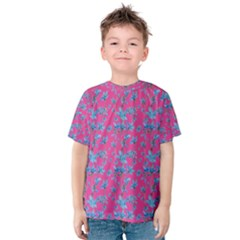 Floral Collage Revival Print Kid s Cotton Tee