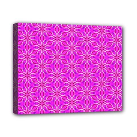 Pink Snowflakes Spinning In Winter Canvas 10  x 8