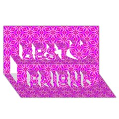 Pink Snowflakes Spinning In Winter Best Friends 3D Greeting Card (8x4)