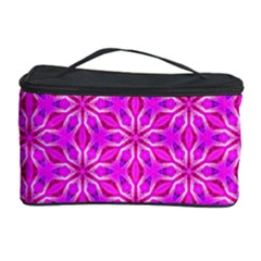 Pink Snowflakes Spinning In Winter Cosmetic Storage Cases
