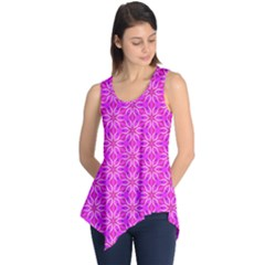 Pink Snowflakes Spinning In Winter Sleeveless Tunic