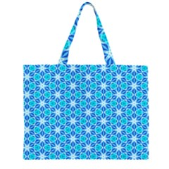Aqua Hawaiian Stars Under A Night Sky Dance Large Tote Bag