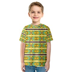 Circles and stripes pattern       Kid s Sport Mesh Tee
