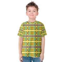 Circles And Stripes Pattern       Kid s Cotton Tee
