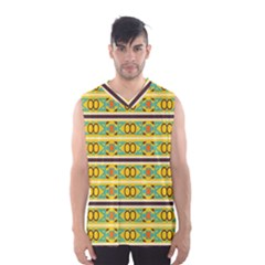 Circles And Stripes Pattern       Men s Basketball Tank Top