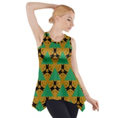Triangles And Other Shapes Pattern        Side Drop Tank Tunic