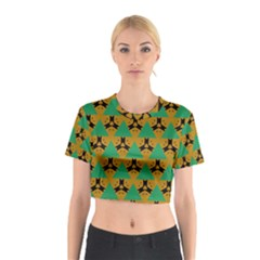 Triangles and other shapes pattern        Cotton Crop Top