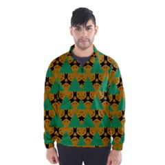 Triangles And Other Shapes Pattern        Wind Breaker (men)