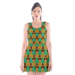 Triangles and other shapes pattern        Scoop Neck Skater Dress
