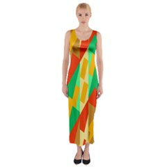 Angles         Fitted Maxi Dress
