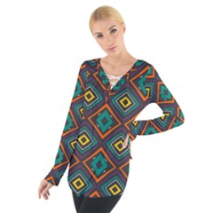 Rhombus Pattern           Women s Tie Up Tee