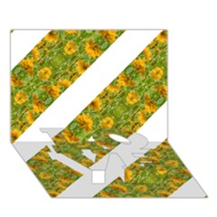 Indian Floral Pattern Stripes Love Bottom 3d Greeting Card (7x5)