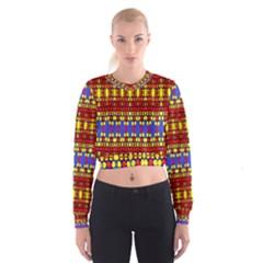 HEXAGON PILOT Women s Cropped Sweatshirt