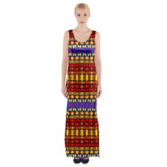 Hexagon Pilot Maxi Thigh Split Dress