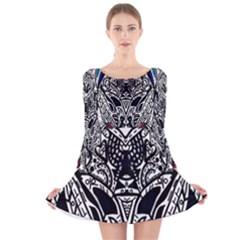 Best LAST Long Sleeve Velvet Skater Dress