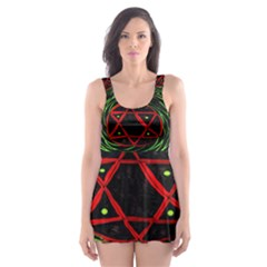Universe Base Star Skater Dress Swimsuit