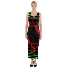 UNIVERSE BASE STAR Fitted Maxi Dress