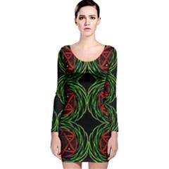 JUPITER GUIDE Long Sleeve Velvet Bodycon Dress