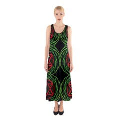 Venus Rotation Full Print Maxi Dress