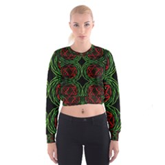 Venus Rotation Women s Cropped Sweatshirt
