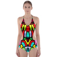 SUN STAR Cut-Out One Piece Swimsuit