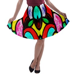 SUN STAR A-line Skater Skirt