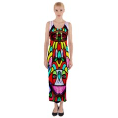 SUN STAR Fitted Maxi Dress