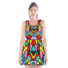 Bi Polar Sun Scoop Neck Skater Dress