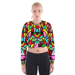 BI-POLAR SUN Women s Cropped Sweatshirt