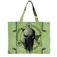 Awesome Green Skull Large Tote Bag