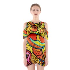 Palace Of Art Cutout Shoulder Dress