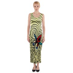 Bee Hive Fitted Maxi Dress