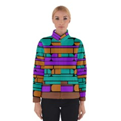 Round corner shapes in retro colors            Winter Jacket