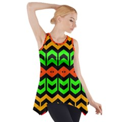 Rhombus And Other Shapes Pattern             Side Drop Tank Tunic